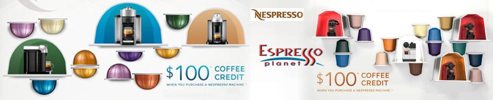 Nespresso $100 Coffee Credits