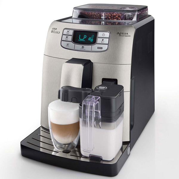 philips saeco intelia one touch cappuccino metal espresso. Black Bedroom Furniture Sets. Home Design Ideas