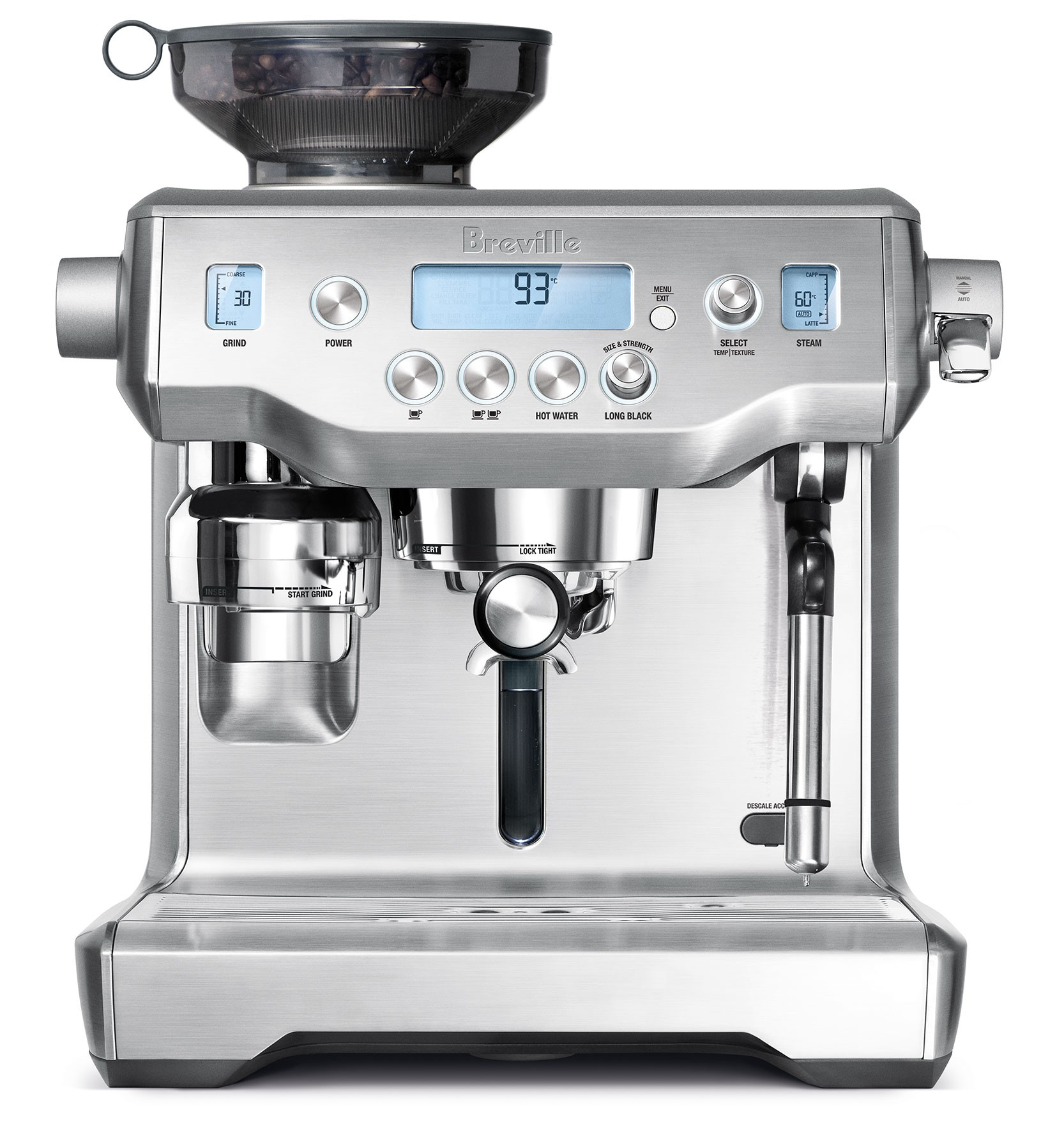 Breville oracle espresso machine bes980xl for View maker