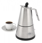 Lifestyle Cordless Electric Stainless Steel Espresso Maker