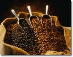 Roasted whole beans coffee
