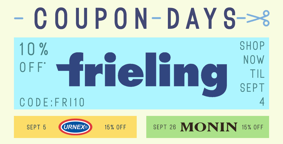 Coupon Days - 10% Off Frieling French Presses