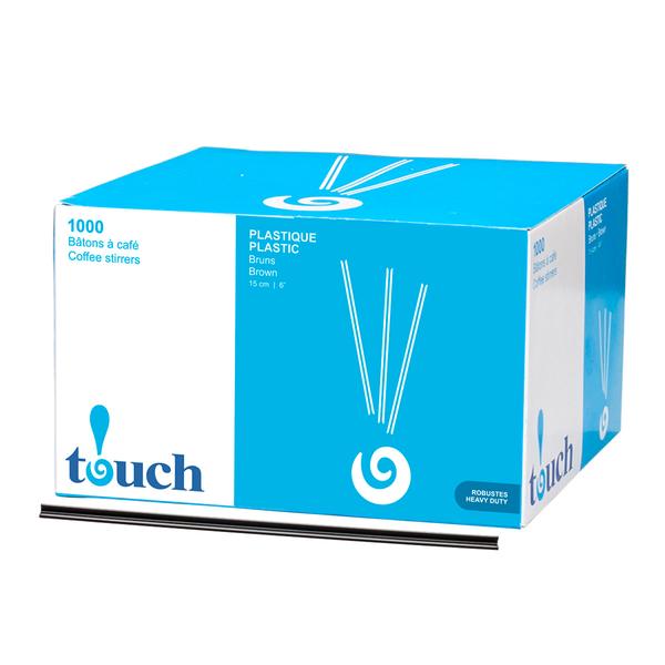 "Touch - 6"" Plastic Coffee Stir Sticks"